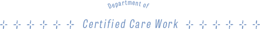 Department of Certified Care Work